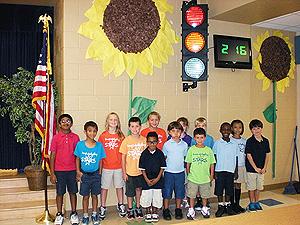 street light in school w kids