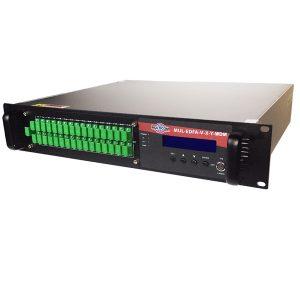 Multicom – MUL-EDFA-V-X-Y-WDM – High Power 1550nm EDFA with WDM, 2RU