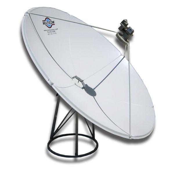 multicom mul 2 4m c 2 4 meter prime focus c band satellite dish