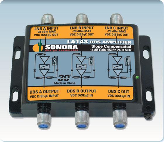 Sonora - LA143 - 3 Satellite, 14 dB Gain, Receiver/Line Powered Amp