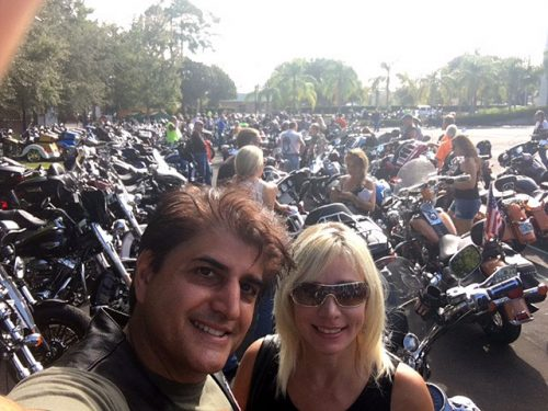 Dominic Ruggiero and friend participated in the RibbonRiders Go Pink motorcycle ride for Breast Cancer Fundraiser
